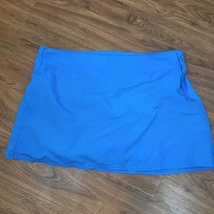 Lands End Turquoise Blue Swim Skirt